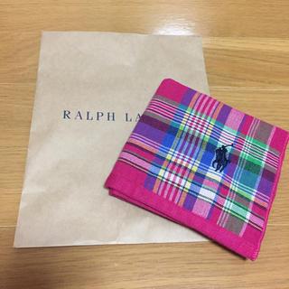 ラルフローレン(Ralph Lauren)のラルフローレン ハンドタオル 新品(ハンカチ)