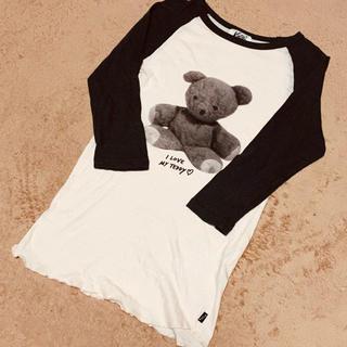 ケイティー(Katie)のKatie♡ラグランTシャツ♡I LOVE TEDDY(Tシャツ(長袖/七分))