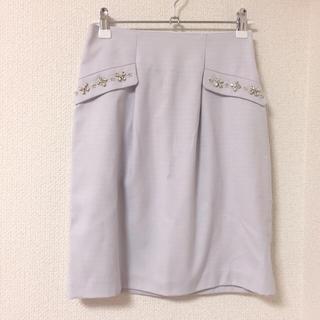 ロディスポット(LODISPOTTO)のロディ♡ビジュー装飾タイトスカート(ひざ丈スカート)