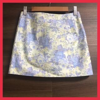 ダズリン(dazzlin)の【新品】 ダズリン 花柄ミニスカート  ブルー 小さいサイズ Sサイズ(ミニスカート)