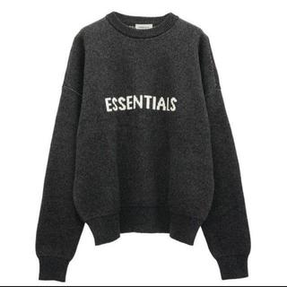 フィアオブゴッド(FEAR OF GOD)のFOG ESSENTIALS Knit Sweater / 黒 / L(ニット/セーター)