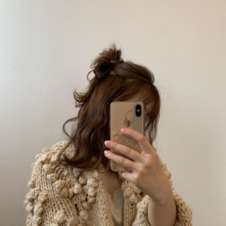 who's who Chico - ただいま値下げ中!③pon pon heart knit cardigan