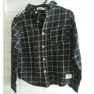 ベベ ネルチェックシャツ 130