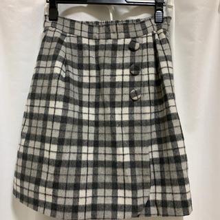 パターンフィオナ(PATTERN fiona)の黒のギンガムチェックのスカート(ひざ丈スカート)
