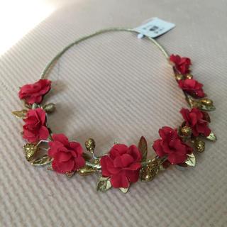 クレアーズ(claire's)の花冠 花かんむり ヘッドアクセ 花輪 レッド ローズ 造花(その他)
