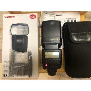キヤノン(Canon)のCanon speedlite 580EX II 箱付き(ストロボ/照明)