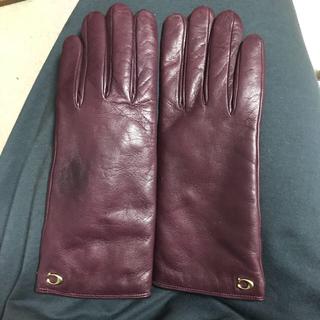 コーチ(COACH)のcoach手袋 レザー手袋 レディース(手袋)