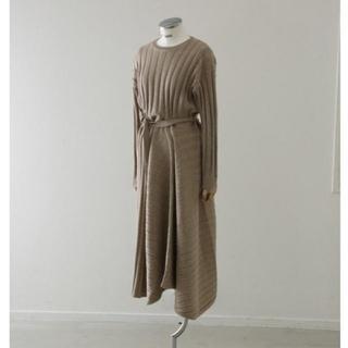 エンフォルド(ENFOLD)のRIM.ARK リムアーク Asymmetry knit OP(ロングワンピース/マキシワンピース)