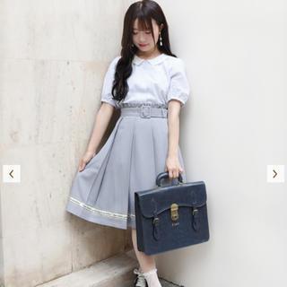 フィント(F i.n.t)の裾ロゴテープ使いタックスカート Fi.n.t(ひざ丈スカート)