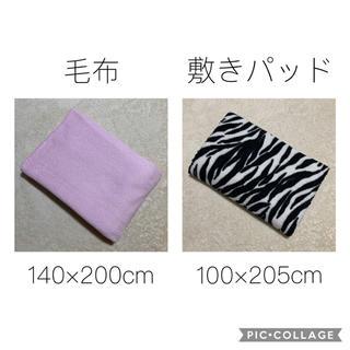 シマムラ(しまむら)の訳あり ❤️ 敷きパッド 毛布 ゼブラ柄 ピンク セット(毛布)