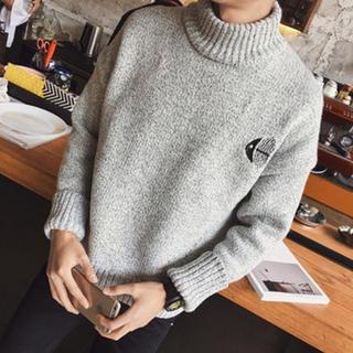 ハレ(HARE)のハレ 刺繍 ニット セーター グレー グリーン ブラック(ニット/セーター)