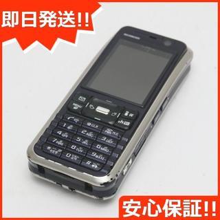 ソニー(SONY)の良品中古 SO902i ダークブルー×ブラウン 白ロム(携帯電話本体)