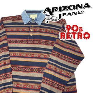 アリゾナ(ARIZONA)の90s ARIZONA Jeans Co アリゾナ ジーンズ 長袖ポロシャツ L(ポロシャツ)