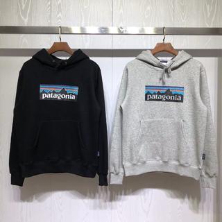 パタゴニア(patagonia)の新品 Patagonia フード付き  Mサイズ  ブラック+グレー (パーカー)