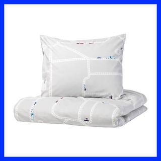 イケア(IKEA)のIKEA UPPTÅG ウップトーグ 掛け布団カバー 枕カバー 車  (シーツ/カバー)