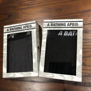 アベイシングエイプ(A BATHING APE)の新品 未使用 APE  ボクサーパンツ 2枚セット(ボクサーパンツ)