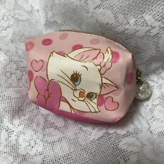 ディズニー(Disney)のマリーちゃん ディズニーストア ミニ ポーチ 小物入れ ピンク コインケース(ポーチ)