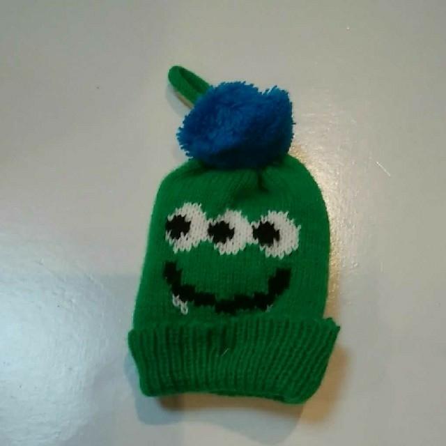 KALDI(カルディ)のカルディ ハロウィンモンスターニット帽 グリーン エンタメ/ホビーのおもちゃ/ぬいぐるみ(ぬいぐるみ)の商品写真