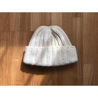ビームスボーイ(BEAMS BOY)のHIGHLAND2000 ニット帽 ホワイト(ニット帽/ビーニー)