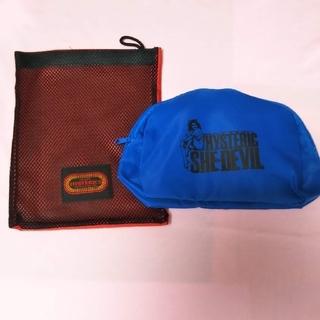 ヒステリックグラマー(HYSTERIC GLAMOUR)のヒステリック水着ポーチ2個セット(青、赤)オマケ付き(ポーチ)
