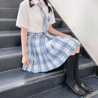 アンクルージュ(Ank Rouge)のゆめかわ JK制服 量産系 地雷系 白茶 ブルーチェックスカート(ひざ丈スカート)