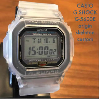 ジーショック(G-SHOCK)の【美品/カスタム】G-SHOCK タフソーラー G-5600E カシオ 腕時計(腕時計(デジタル))