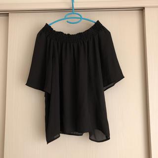 レプシィム(LEPSIM)のカットソー 黒 シースルー ゆったり(カットソー(半袖/袖なし))