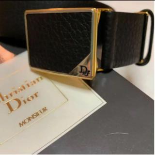 Christian Dior - ディオール メンズベルト 黒レザー