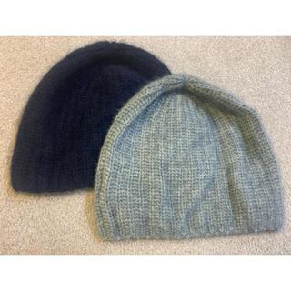 ロンハーマン(Ron Herman)のロンハーマン ニット帽 グレー ネイビー(ニット帽/ビーニー)