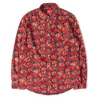 シュプリーム(Supreme)のsupreme roses corduroy shirt (シャツ)