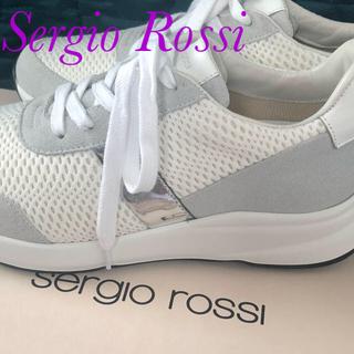 セルジオロッシ(Sergio Rossi)の新品 セルジオロッシ 白スニーカー 23センチ レディース (スニーカー)