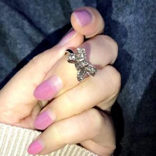 新品☆(16号)ビッグリボンが可愛いリング指輪(リング(指輪))