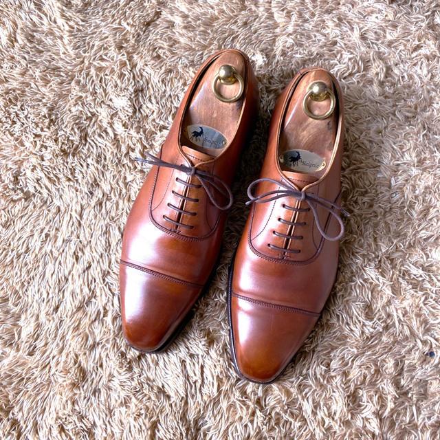 Crockett&Jones(クロケットアンドジョーンズ)の456.CROCKETT&JONES HALLAM ストレートチップ 7.5E メンズの靴/シューズ(ドレス/ビジネス)の商品写真