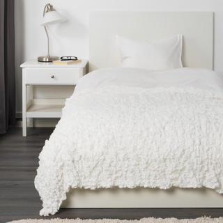 イケア(IKEA)のIKEA イケア  新品 オフェーリア 毛布  ホワイト  130×170cm(シーツ/カバー)