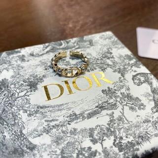 Dior - DIOR金メッキパールオープンリング