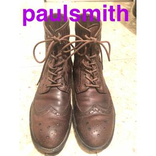 ポールスミス(Paul Smith)のポールスミス paulsmith ブーツ イタリア製 サイズ6 ウィングチップ (ブーツ)