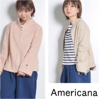 AMERICANA - アメリカーナ☆袖ジップ ハイネック Aライン スウェット☆トレーナー☆ジャンパー