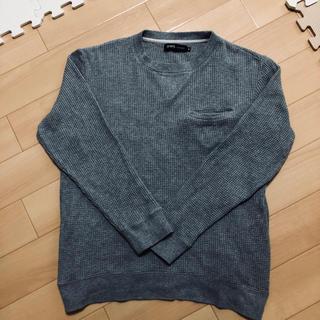 シップス(SHIPS)のシップス メンズ ワッフルトレーナM   グレー(Tシャツ/カットソー(七分/長袖))