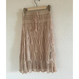 ノーブル(Noble)のNoble パイナップル編みスカート(ひざ丈スカート)