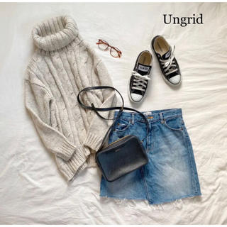 アングリッド(Ungrid)の《Ungrid》カットオフデニムスカート アングリッドデニムスカート(ひざ丈スカート)