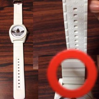 アディダス(adidas)のadidas 腕時計 白/正規品シリコン(腕時計(アナログ))