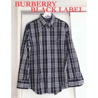 BURBERRY BLACK LABEL - 【美品】バーバリーブラックレーベル/ネイビー/チェック/サイズ3(L)紺