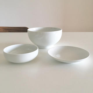 ムジルシリョウヒン(MUJI (無印良品))の無印良品 白磁皿 白磁浅鉢 白磁丼・大  3セット(食器)