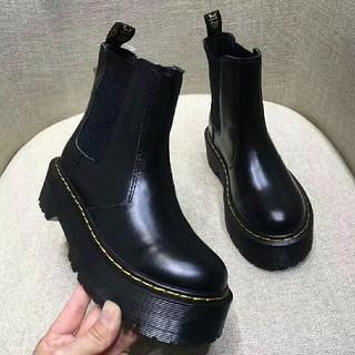 ドクターマーチン(Dr.Martens)のUK3ドクターマーチン Dr.Martens 厚底 ブラック 新品(ブーツ)