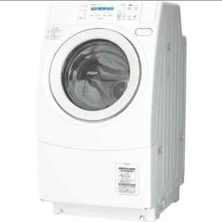 ドラム式洗濯機 AQUA ホワイトデザイン シンプル スリムタイプ 乾燥機