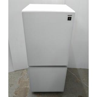 SHARP - 冷蔵庫 シャープ ガラストップデザイン ホワイト プラズマクラスター キレイ