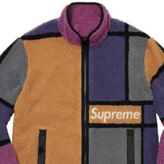 シュプリーム(Supreme)のSupreme Colorblocked Fleece XL フリース 紫(ナイロンジャケット)