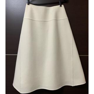 ドゥロワー(Drawer)のドゥロワー    スカート 白 36(ひざ丈スカート)