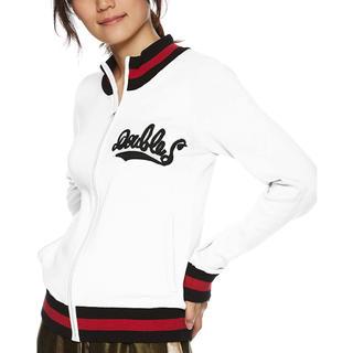 ダブルスタンダードクロージング(DOUBLE STANDARD CLOTHING)の新品タグ付 ダブスタ ジップアップ カーディガン ホワイト(カーディガン)