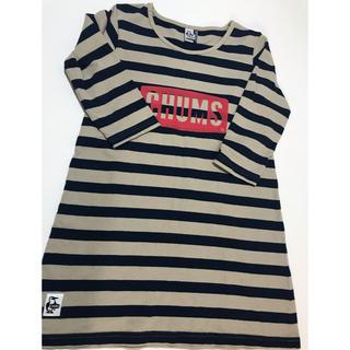 チャムス(CHUMS)のボーダーチュニック kidsXL(Tシャツ/カットソー)
